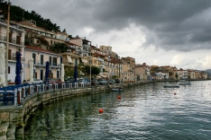 Gythio, waterfront, boats, ocean, port, greece, peloponnese